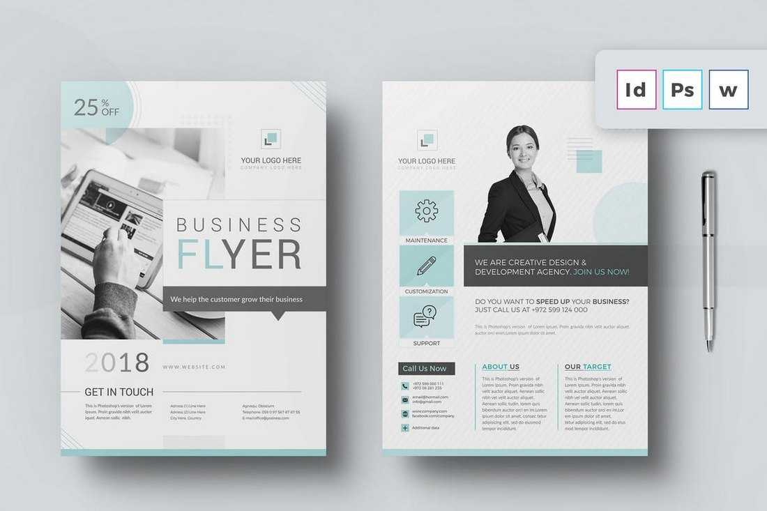 30+ Best Microsoft Word Brochure Templates – Creative Touchs Throughout Templates For Flyers In Word