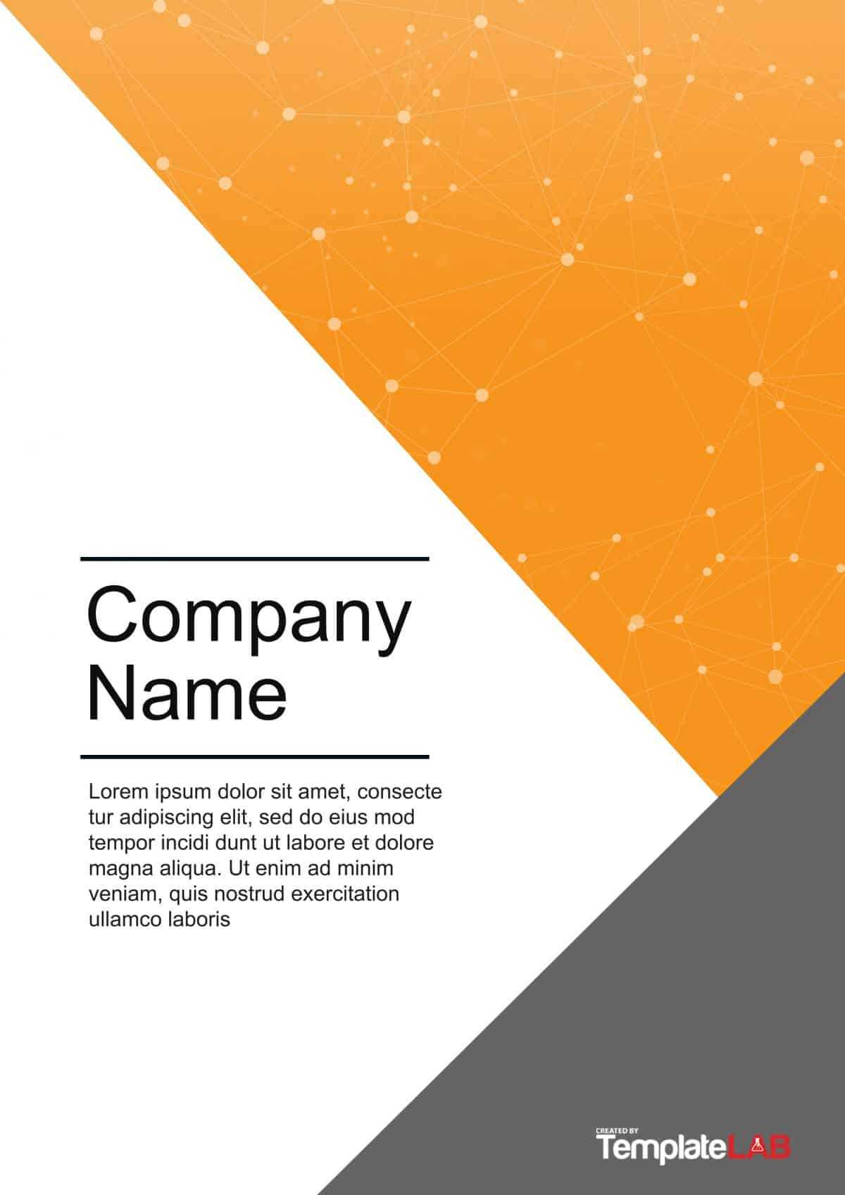 39 Amazing Cover Page Templates (Word + Psd) ᐅ Templatelab Within Word Title Page Templates