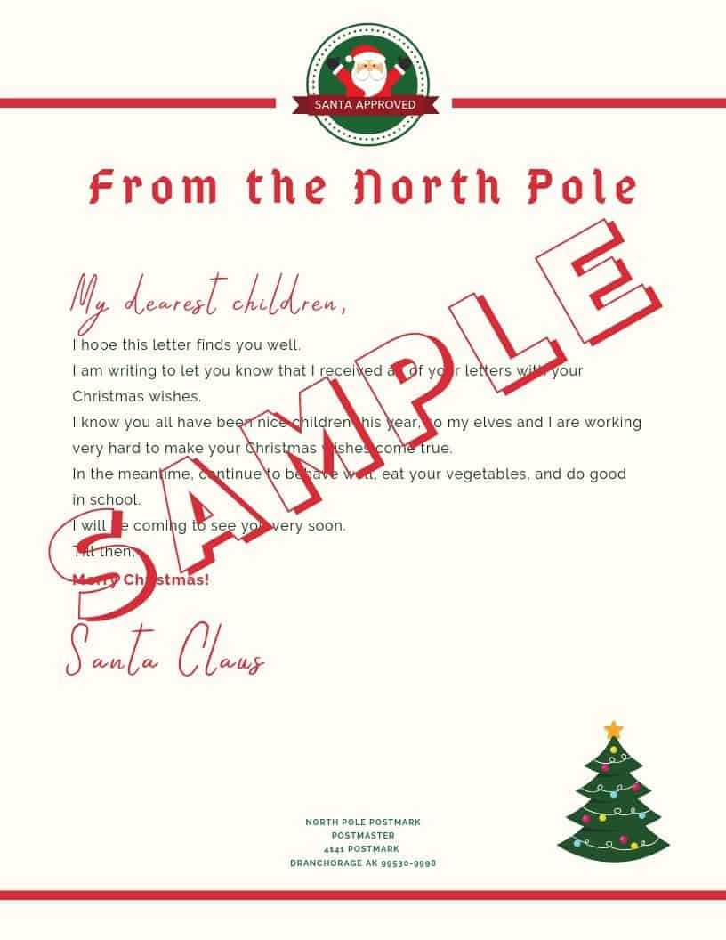 5 Letter To Santa Template Printables (Downloadable Pdf) Intended For Santa Letter Template Word