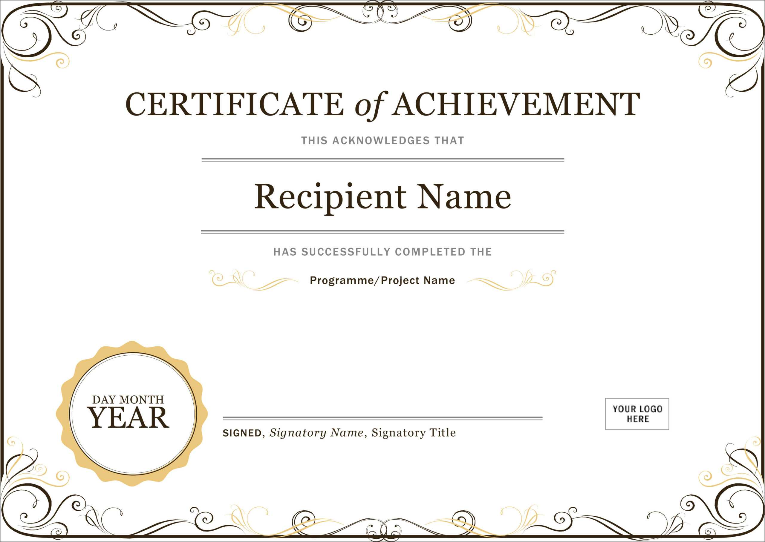 50 Free Creative Blank Certificate Templates In Psd Within Blank Certificate Templates Free Download