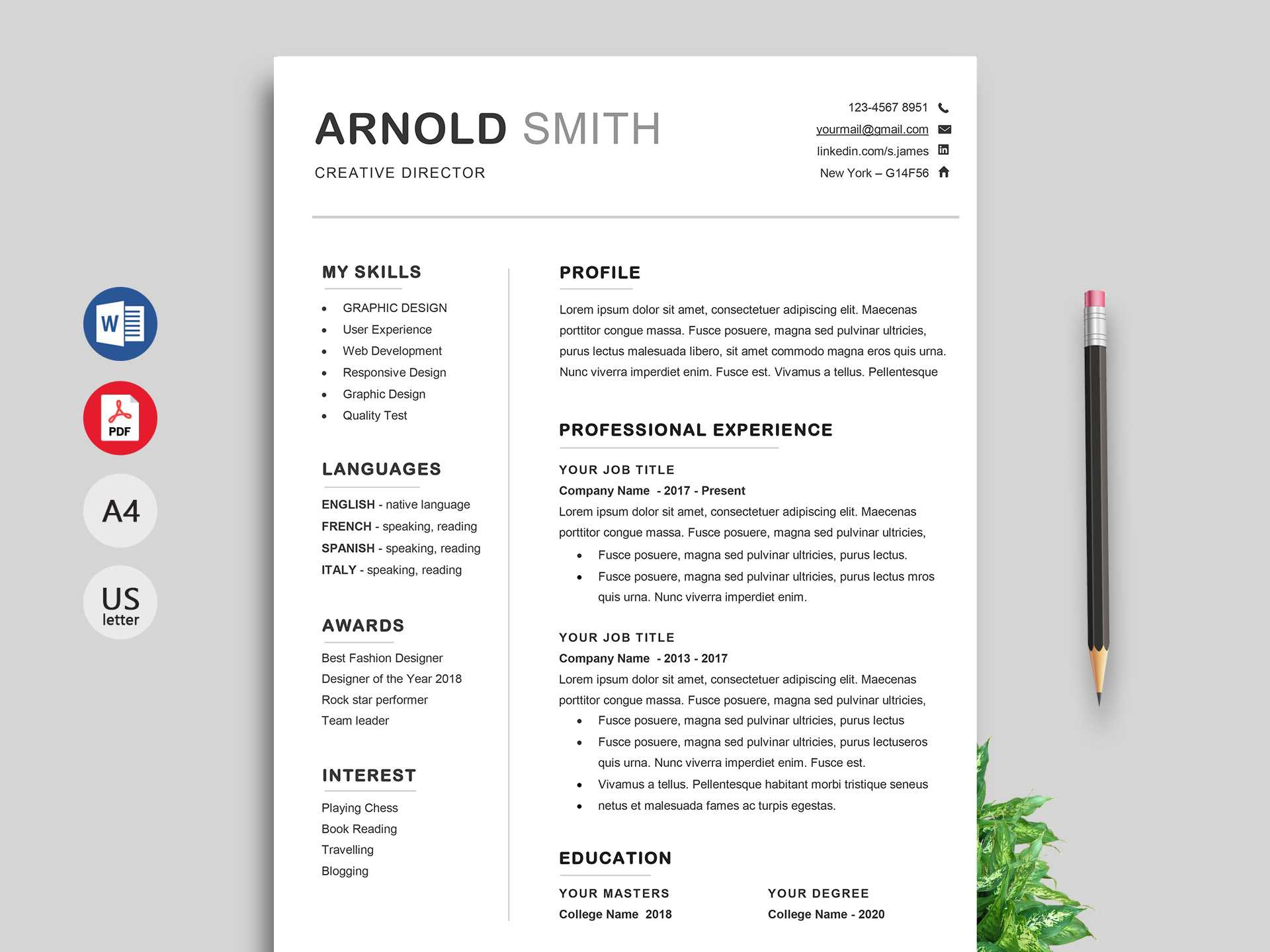 Ace Classic Cv Template Word - Resumekraft Inside Free Downloadable Resume Templates For Word