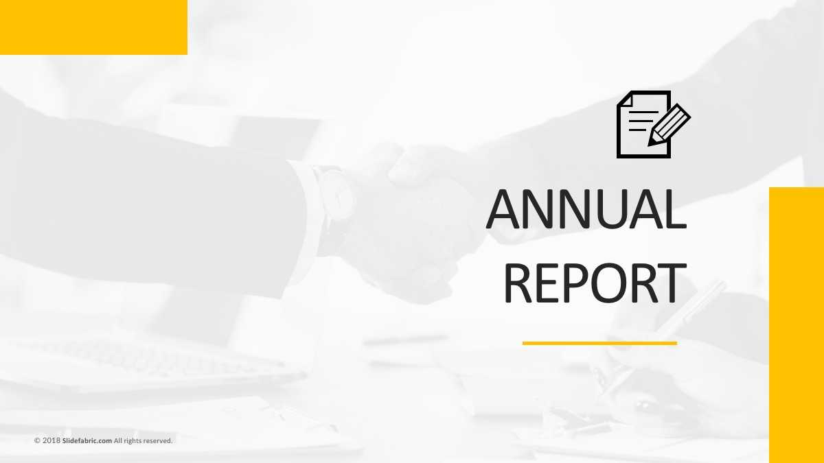 Annual Report Free Powerpoint Template Pertaining To Annual Report Ppt Template