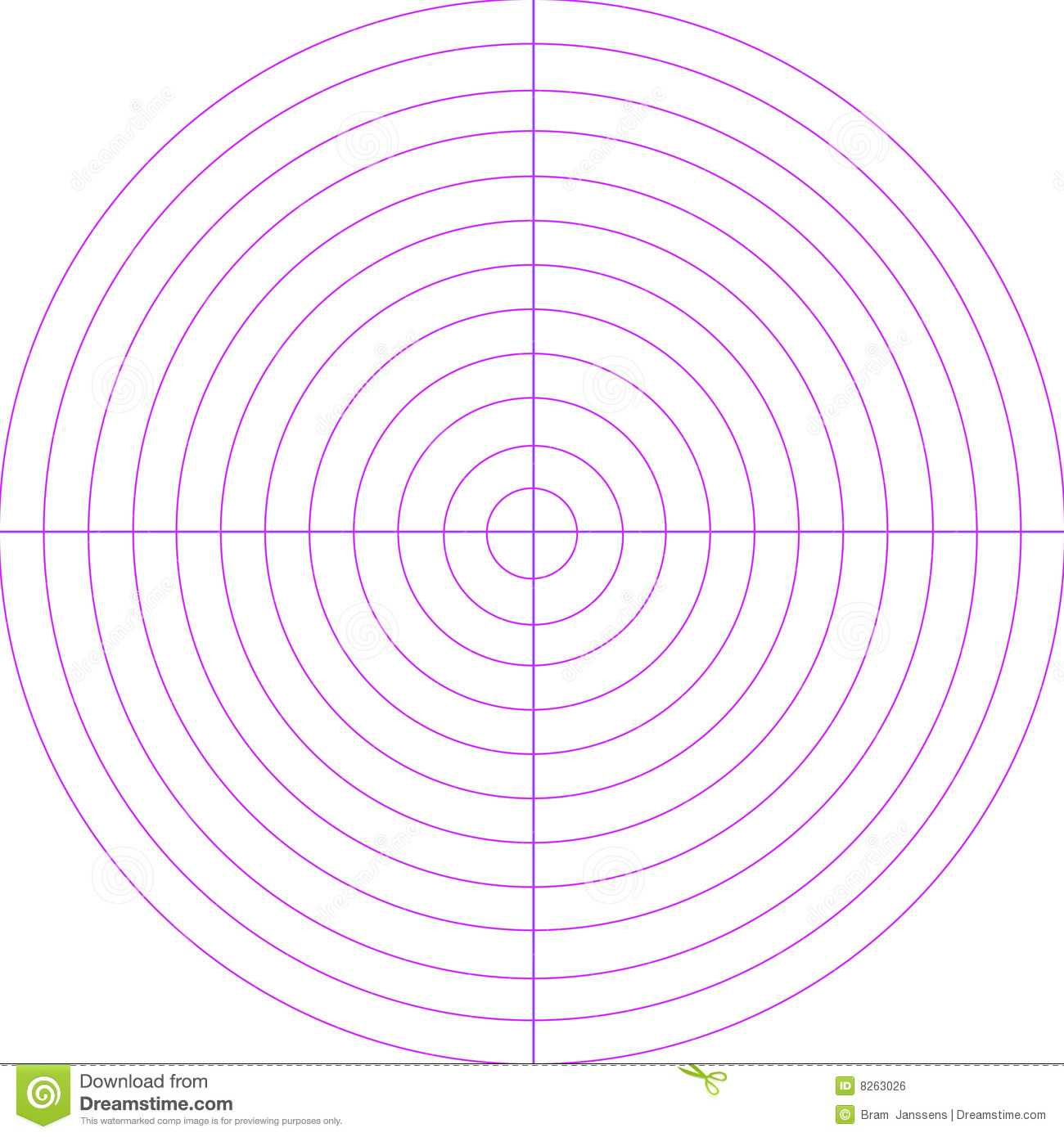 Blank Radar Screen Stock Illustration. Illustration Of Within Blank Radar Chart Template