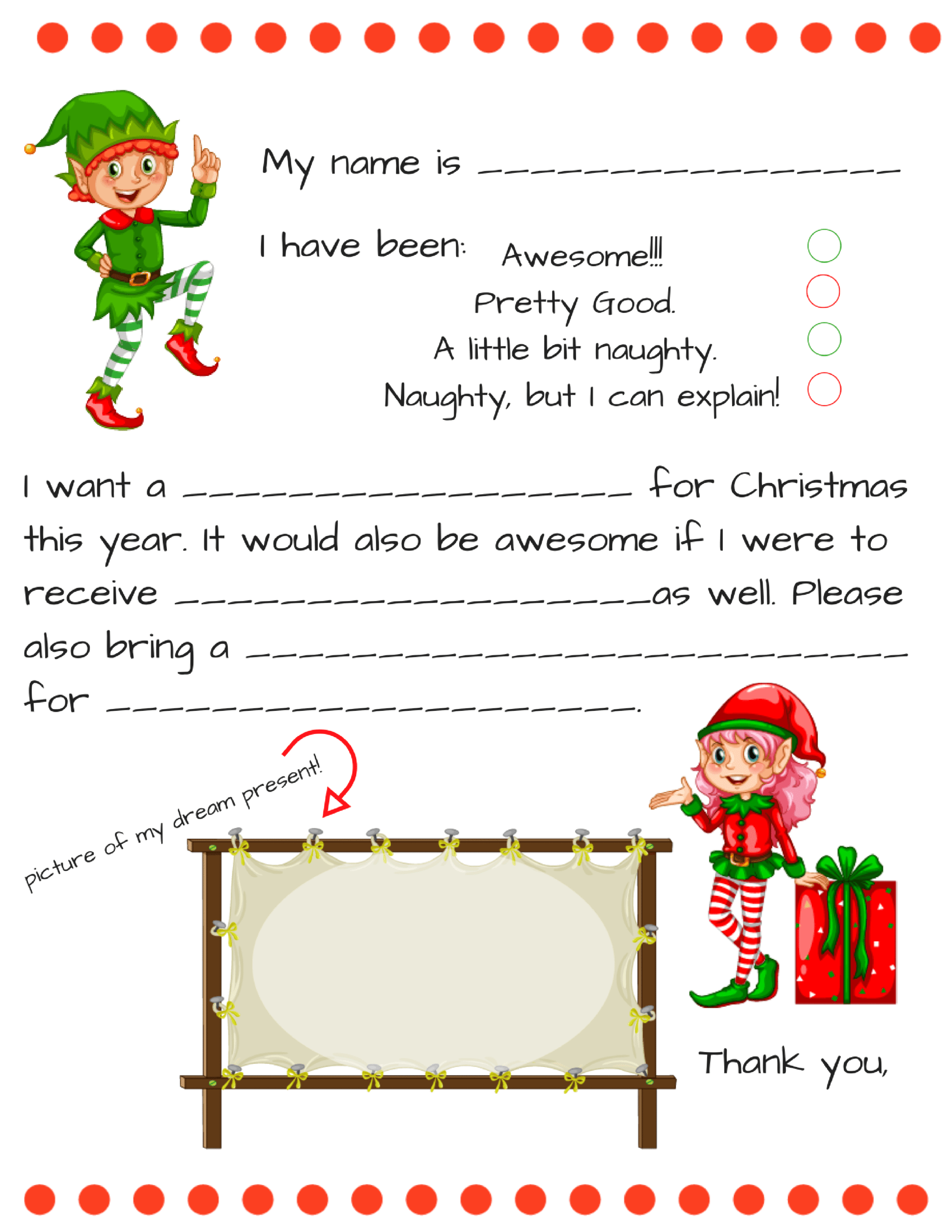 Blank Santa Letter Template Free - Calep.midnightpig.co With Letter From Santa Template Word