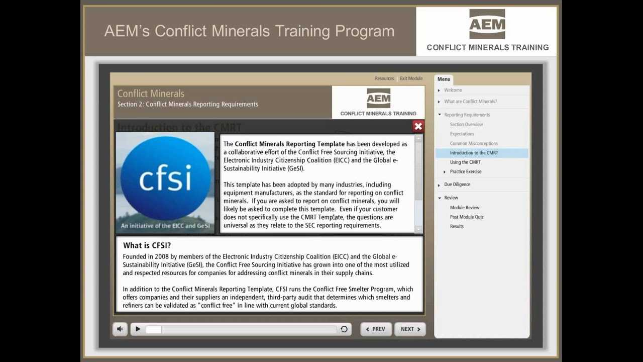 Conflict Minerals Training – Aem   Association Of Equipment Intended For Eicc Conflict Minerals Reporting Template