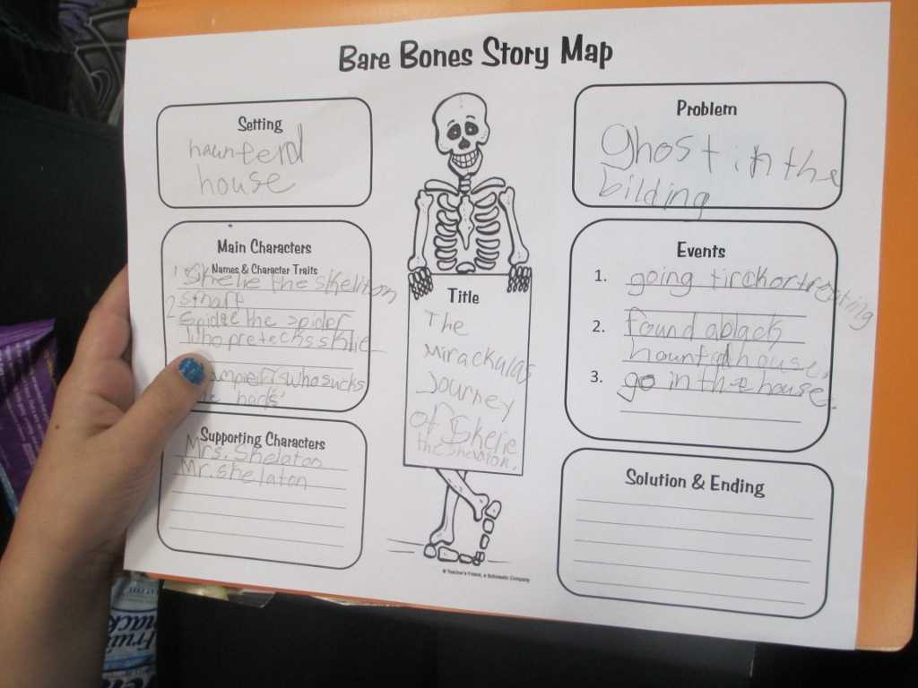 Crafty Symmetric Skeletons | Scholastic Pertaining To Skeleton Book Report Template