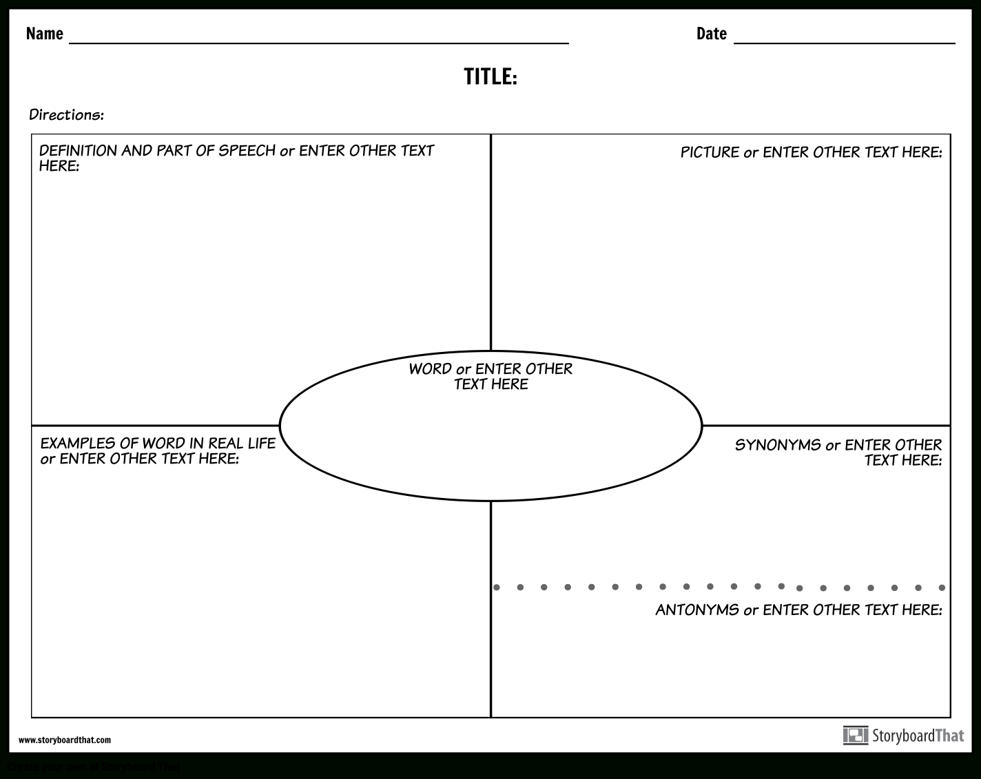 Create Vocabulary Worksheets | Vocabulary Templates Throughout Vocabulary Words Worksheet Template