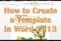 Creating A Template In Word 2013 - Calep.midnightpig.co in Creating Word Templates 2013