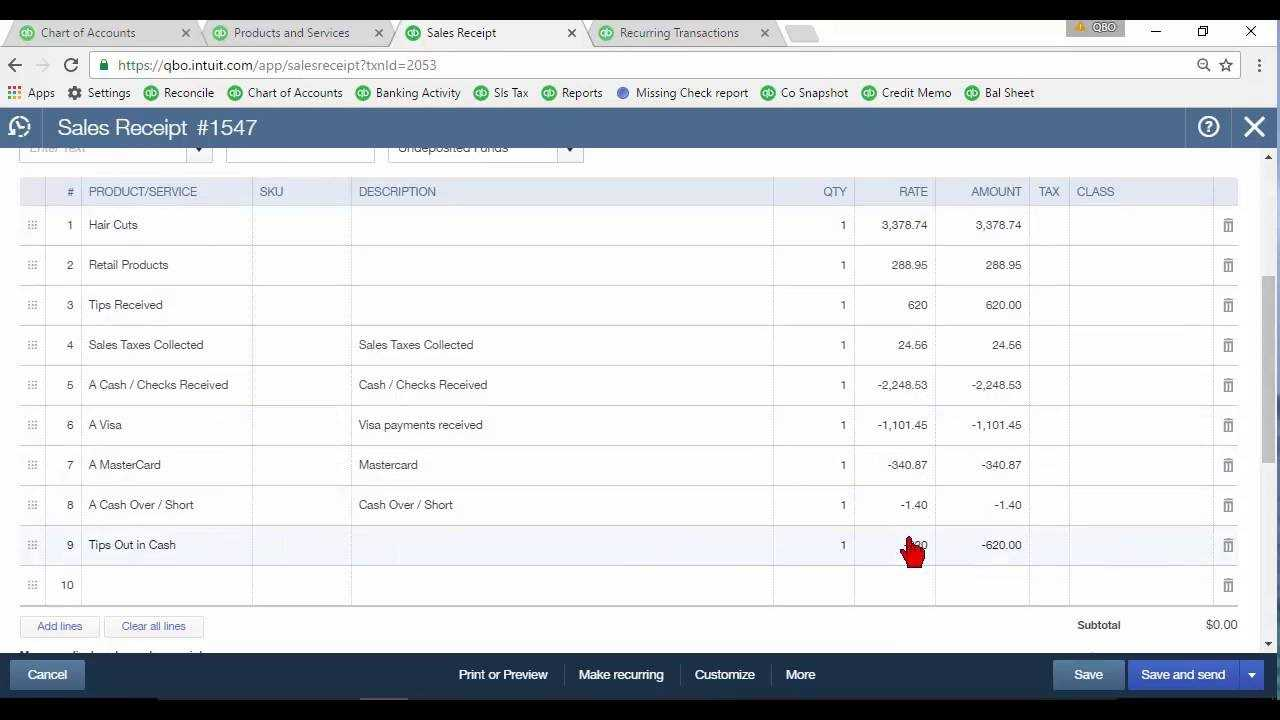 Daily Sales Summary In Quickbooks Online Throughout Quick Book Reports Templates