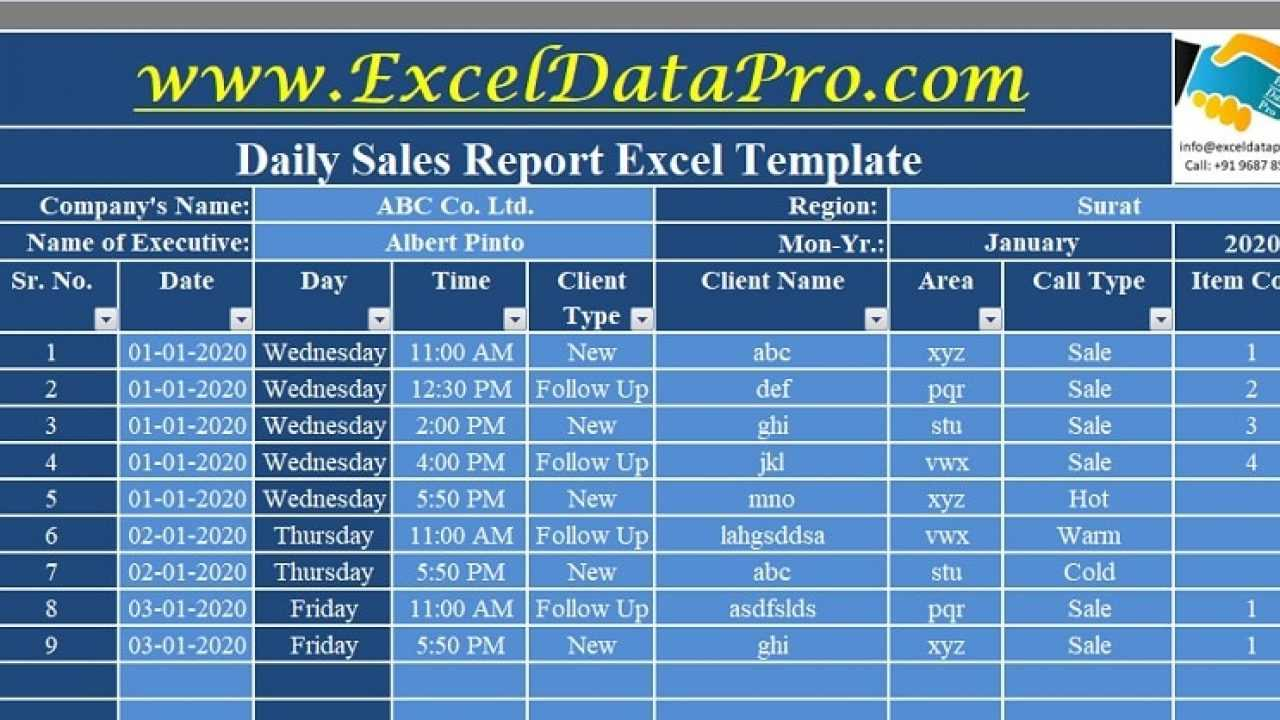 Download Daily Sales Report Excel Template - Exceldatapro Intended For Daily Sales Report Template Excel Free