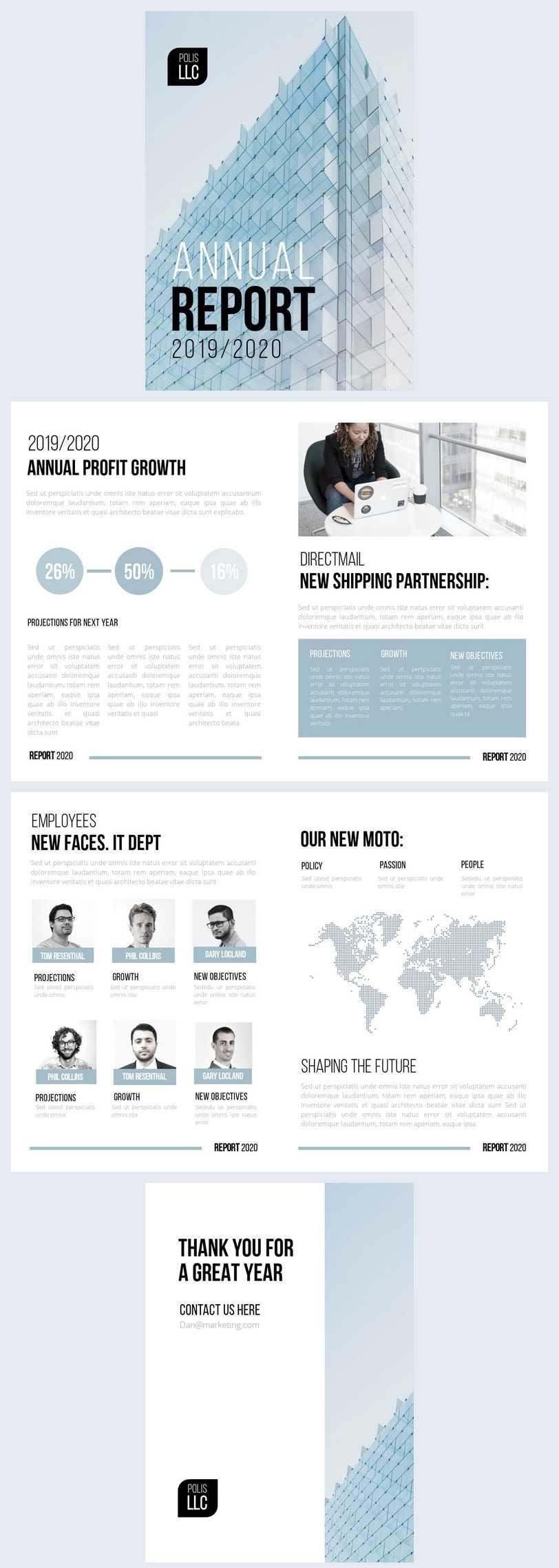 Free Modern Llc Annual Report Template - Flipsnack Inside Llc Annual Report Template