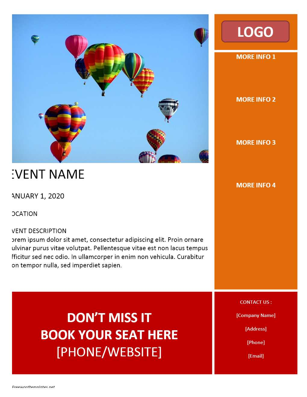 Free Printable Flyer Templates Word | Room Surf Within Templates For Flyers In Word