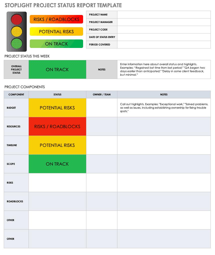 Free Project Report Templates | Smartsheet Inside Development Status Report Template