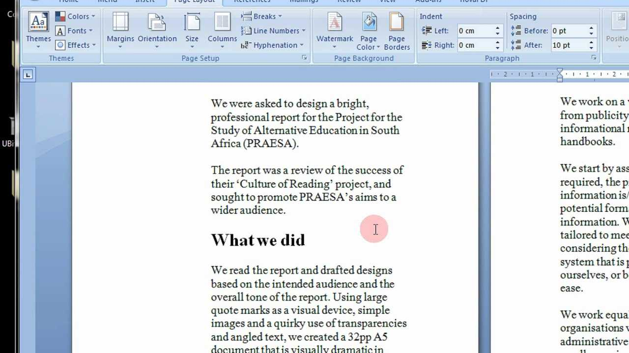 How To Create Printable Booklets In Microsoft Word 2007 & 2010 Stepstep  Tutorial With Regard To Booklet Template Microsoft Word 2007