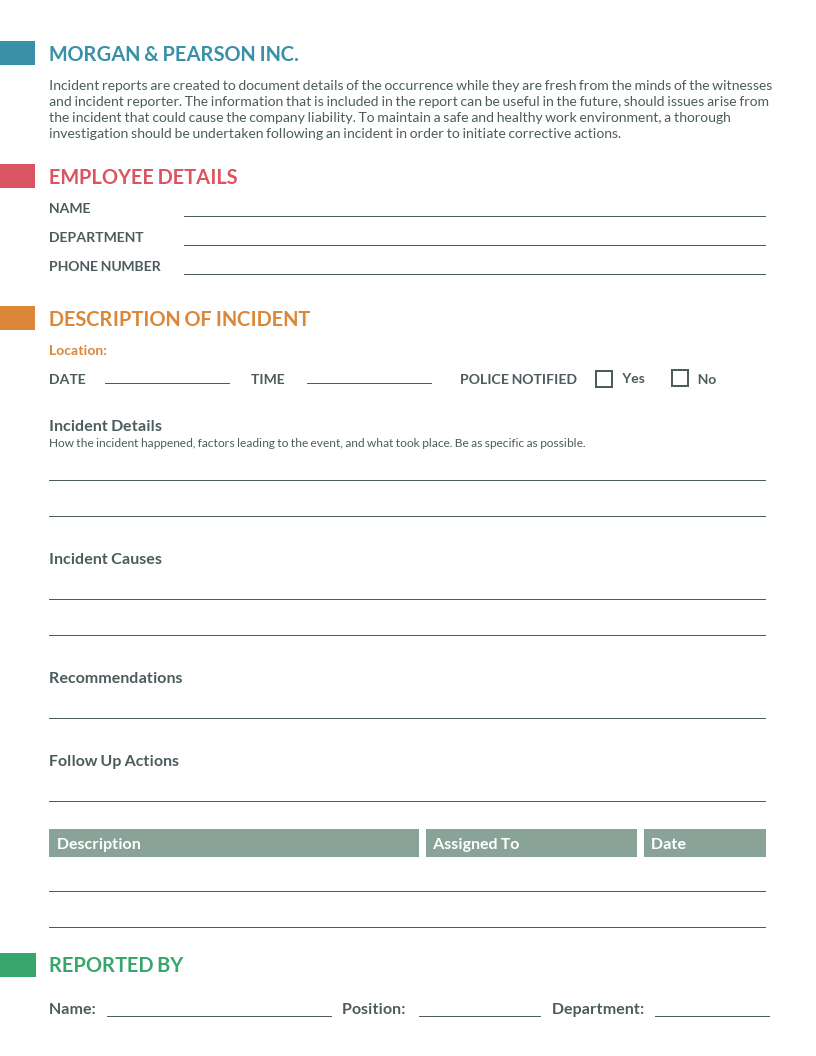 How To Write An Effective Incident Report [Templates] - Venngage Intended For Failure Investigation Report Template