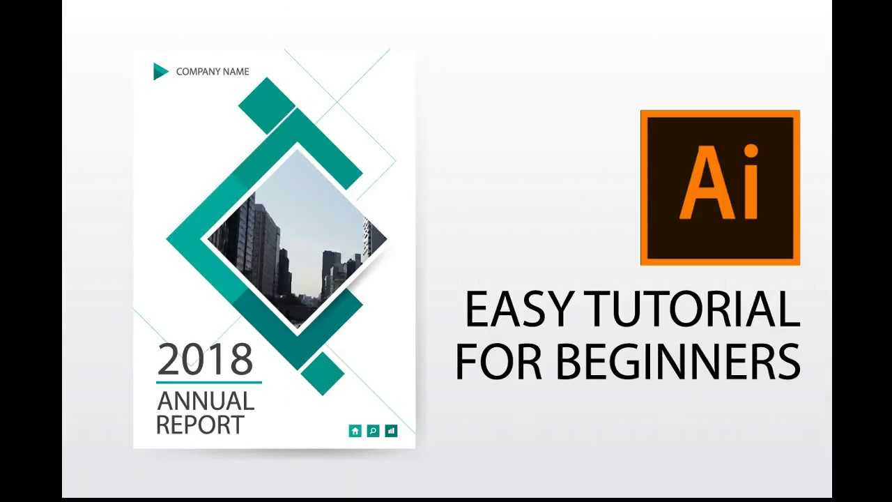 Illustrator Tutorial : How To Design Annual Report Cover, Brochure, Flyer  Template Regarding Illustrator Report Templates
