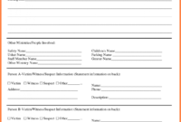 Information Technology Incident Report Template within Template For Information Report