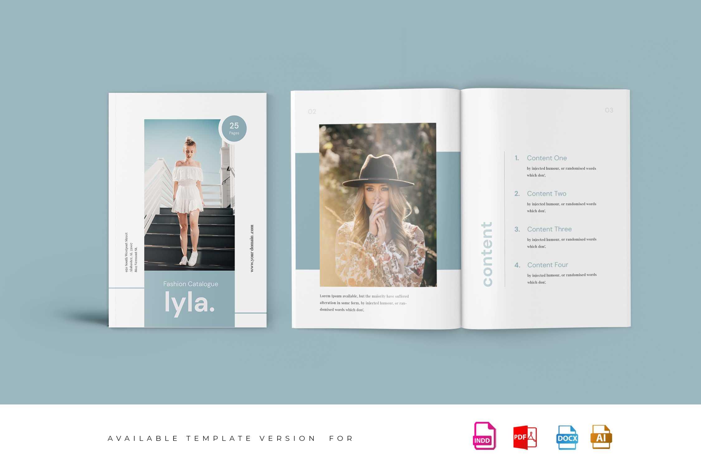 Lyla - Fashion Magazine Template Pertaining To Magazine Template For Microsoft Word
