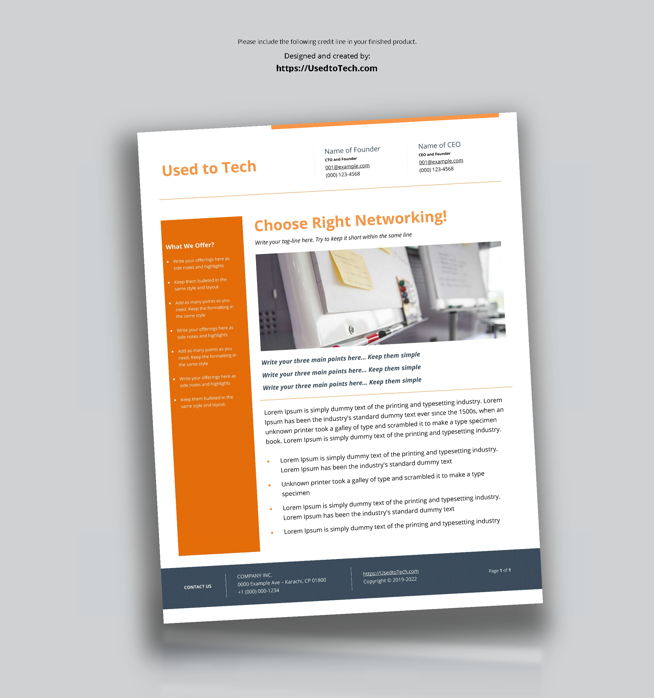 Modern Flyer Design In Microsoft Word Free – Used To Tech Within Templates For Flyers In Word