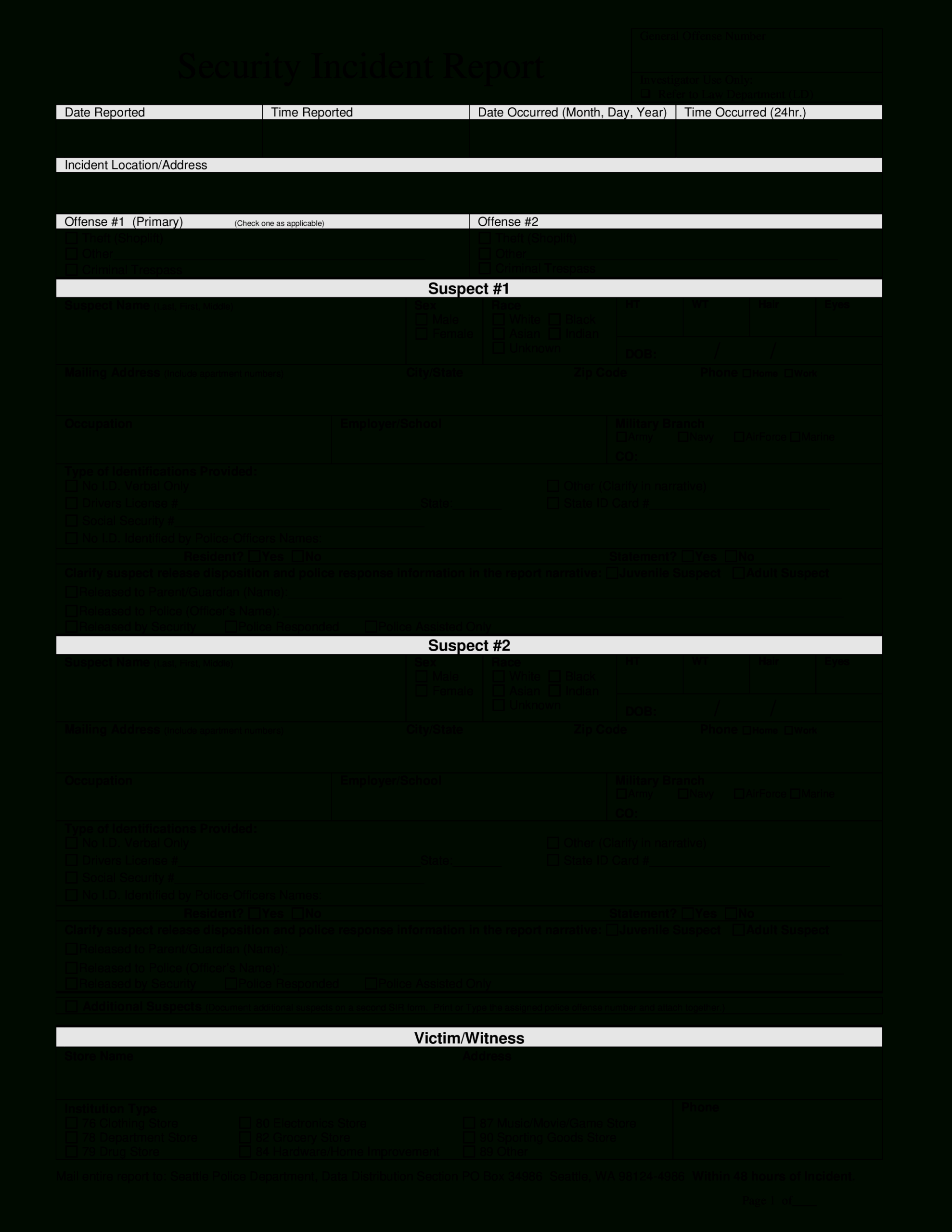 Police Incident Report Template - Dalep.midnightpig.co For Police Incident Report Template