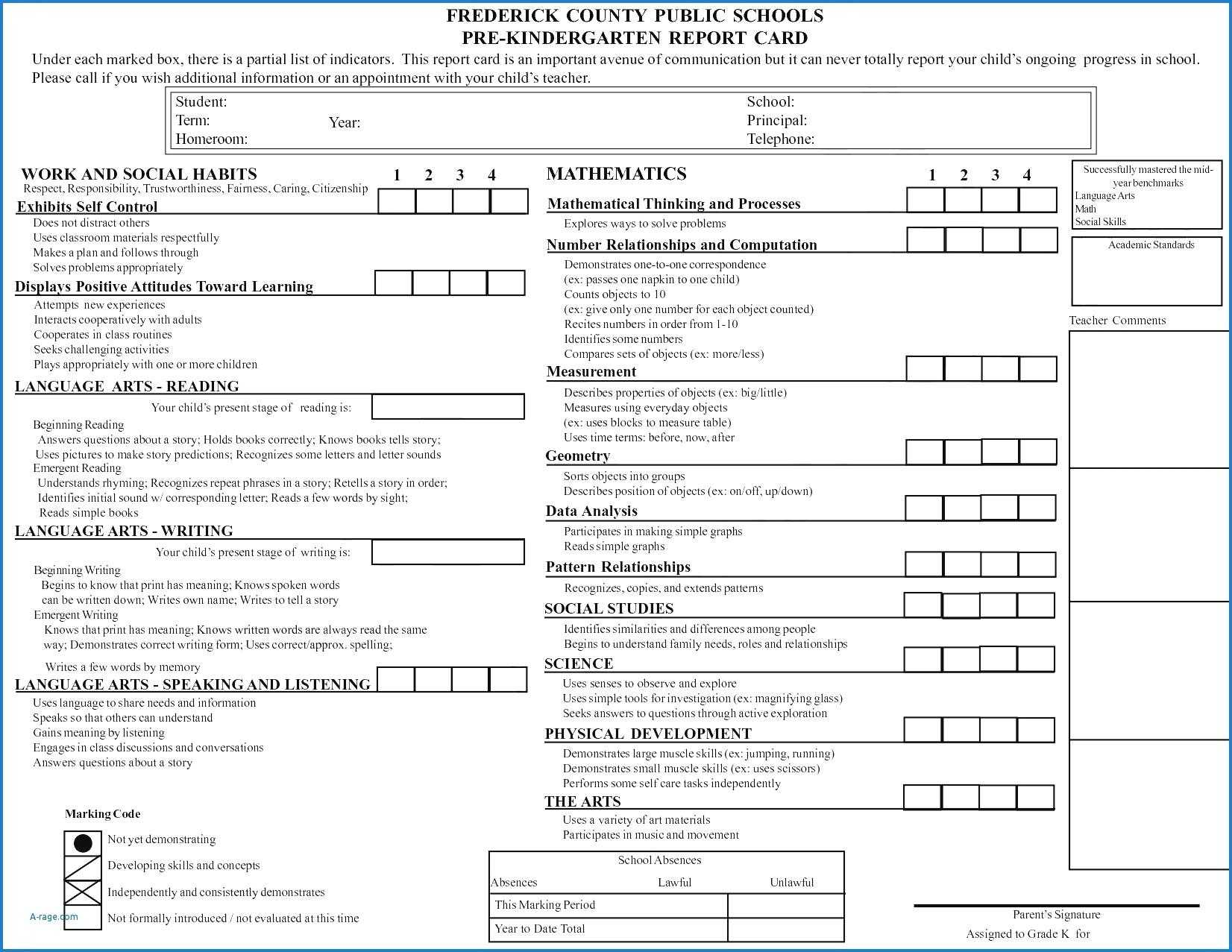 Report Card Sample – Calep.midnightpig.co With Regard To Fake Report Card Template