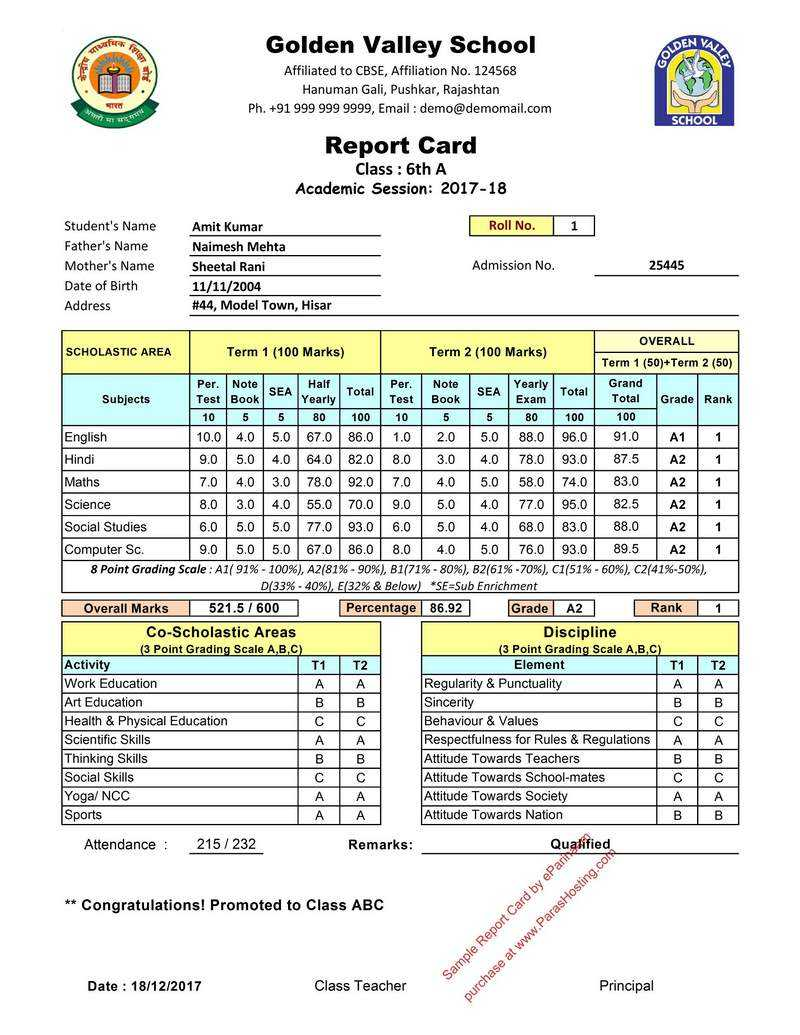 Report Card Sample – Dalep.midnightpig.co In Fake Report Card Template