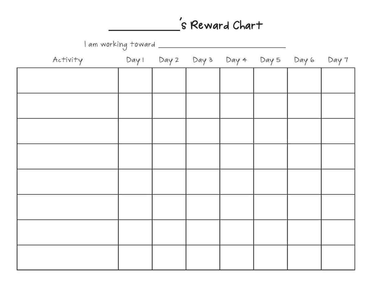 Reward Chart Templates - Word Excel Fomats Regarding Reward Chart Template Word