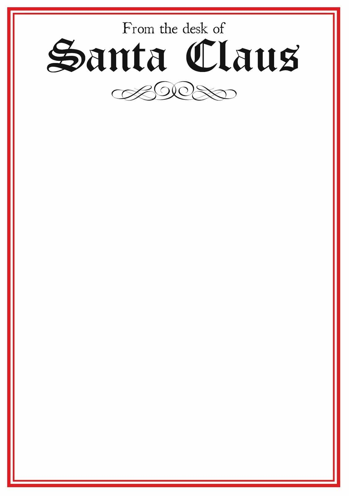 Santa Templates Free – Dalep.midnightpig.co With Santa Letter Template Word