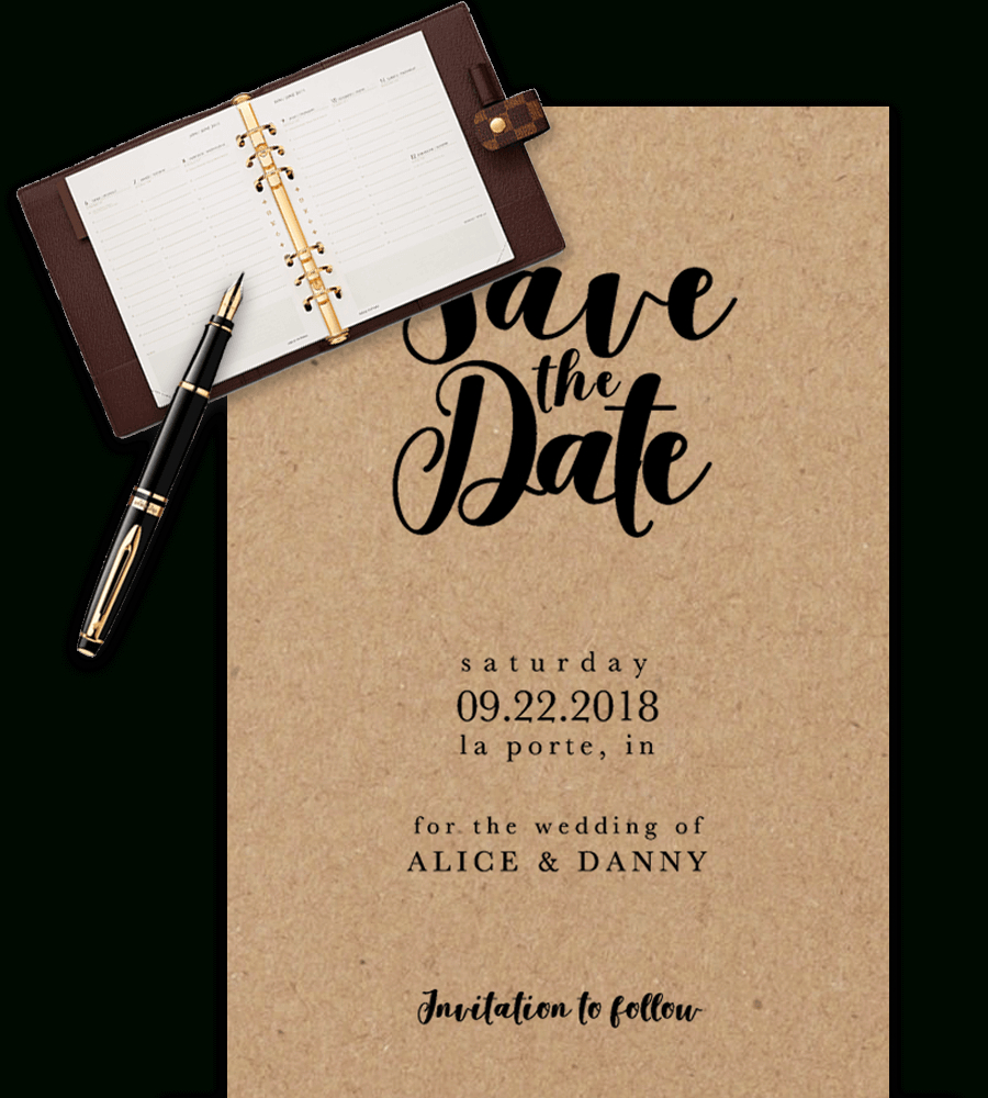 Save The Date Templates For Word [100% Free Download] With Save The Date Templates Word
