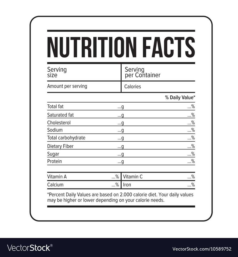 Supplement Facts Label Template - Dalep.midnightpig.co Regarding Food Label Template Word